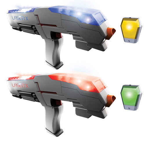 Laser X Double Sports Blaster 200' Range Full Size Multi- Cognitive Skills & Fine Motor Skills Development, Fun for At Home or Outdoor Entertainment