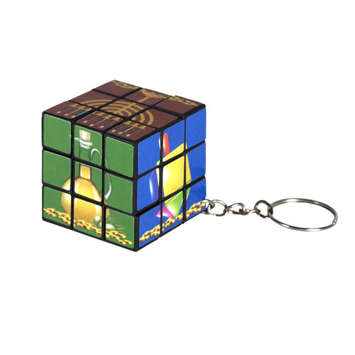 Chanukah Cube Key Ring - 6 Pieces