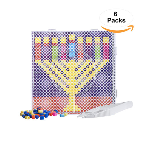 Chanukah Themed Melty Beads - Decorative, Multicolor Hanukkah Themed Melty Beads - Durable & Attractive (1 Pack)