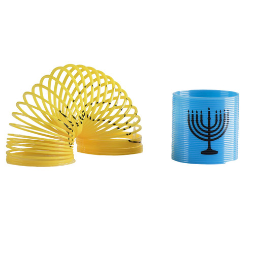 Chanukah Themed Magic Springs - 12 Pieces - Multicolor Coil Springs with Hanukkah Theme – Entertaining and Classic Novelty Toy and Prize for Kids (Pack of 12)