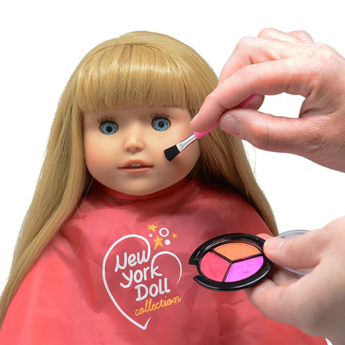 Washable Makeup set for Dolls and Kids - pretend play Cosmetic Set - Doll not included