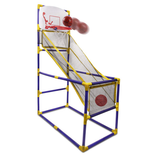 Point Games The Boomer Basketball Hoop Game, Indoor or Outdoor Arcade Sport Toy, Easy to Install, Fun and Entertaining for all Ages