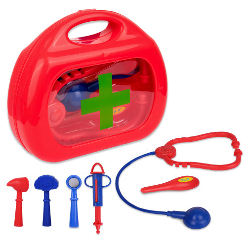 Playkidz My First Medical Kit, Doctor Set with Storage Box, 6 pcs Packed in a Sturdy Gift Case, Great Gift for Children , Recommended Age 3+