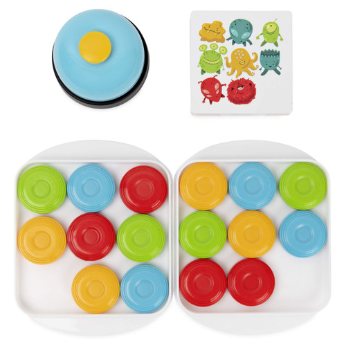 Quick Pucks, Pattern Matching On-The-Go Puzzle Game, for Adults and Kids Ages 8 and up