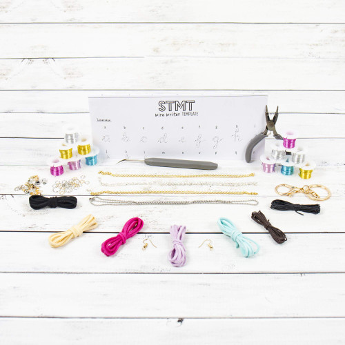 STMT DIY Wire Writer Jewelry by Horizon Group USA, Create 25 Vsco Girl Custom Wire Jewelrypiece, Bend, Shape & Twist Wire Into Bracelets, Rings, Necklaces & More.Multicolored