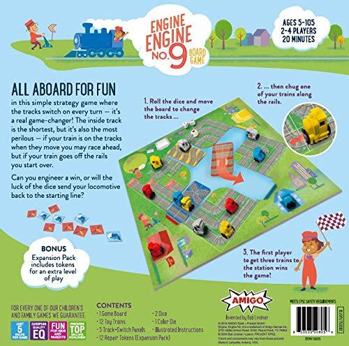 AMIGO Engine Engine No. 9 Kids Board Game with 12 Toy Trains