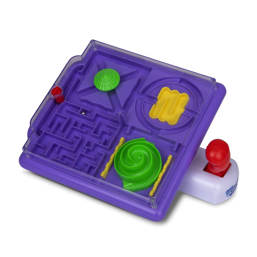 Point Games BrainyMaze Maze Madness - 4 in 1 Tilt Maze Puzzle Game - 1 Remote Control, Brain Teaser Toy - Developmental & Interactive Puzzle, Test Stabilizing Skills- Recommended Ages 5+