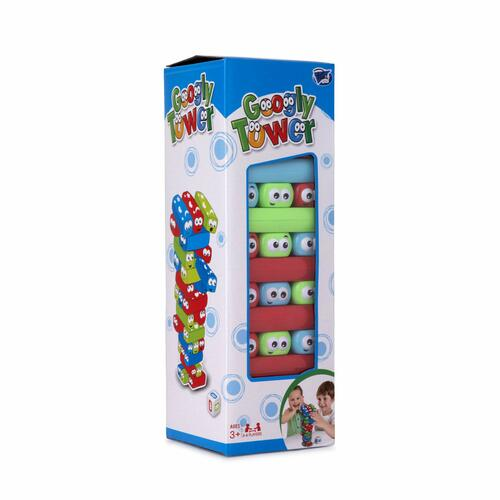 Point Games Googly Tower - Stacking Tower Game with Fun Design - Developmental & Interactive Puzzle, Test Stabilizing Skills- Ages 3+