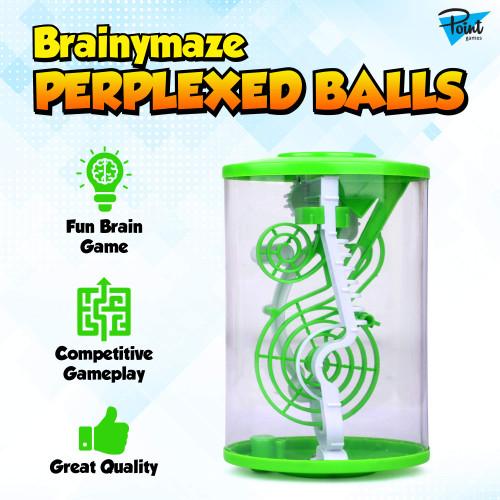 Point Games BrainyMaze Perplexed Balls - Elliptic Cylinder Maze Puzzle Game - Brain Teaser Developmental & Interactive Puzzle, Test Stabilizing Skills Ages 8+