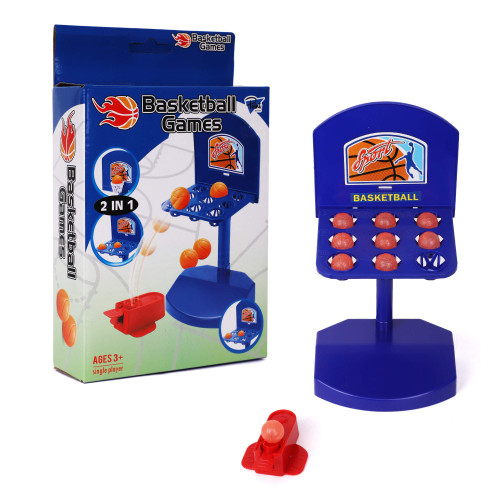 Point Games 2 in 1 Basket Ball Games with Launcher - Mini Desktop Basketball Classic Table Top Office Shooting Toy - Aiming Game with 2 Boards Feature - Portable Toys for Boys, Girls or Sports Fan