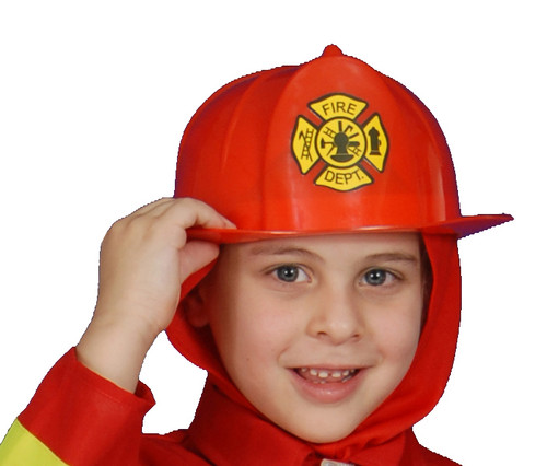 Red Fire Helmet - Kids, one size fits all
