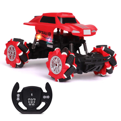 Side & Climbing RC Car Remote Control Truck - Realistic Steering Remote, Agile Universal Wheels - 2.4Ghz Off Road RC Trucks with Rechargeable Battery - Electric Toy Car for All Adults & Kids Ages 3+