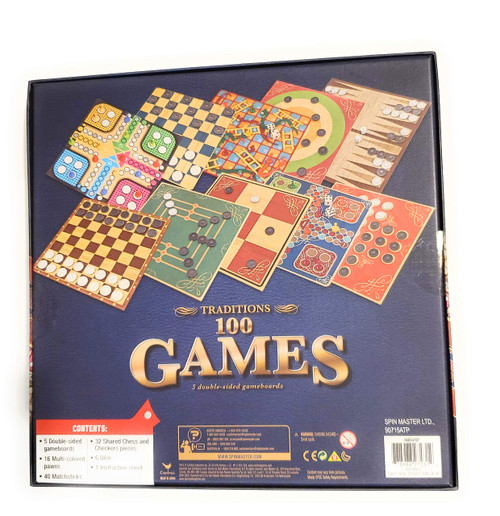 Traditions 100 Games - 5 Double-Sided Game Boards
