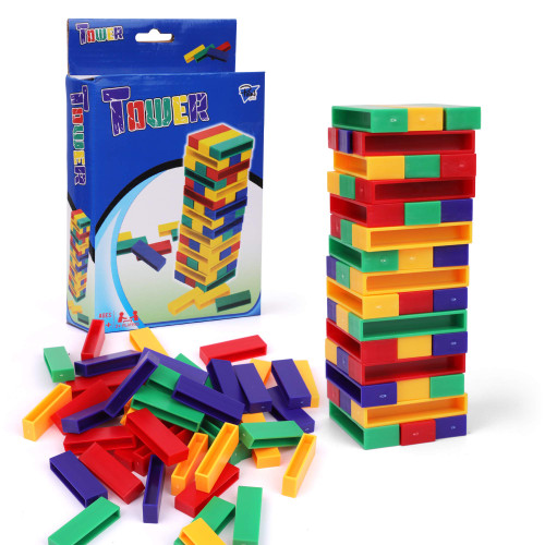Point Games Tower - Stacking Blocks Game - Toppling Balance Tower Games - Developmental & Interactive Puzzle, Test Stabilizing Skills- Ages 6+