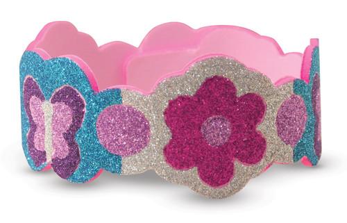 Melissa & Doug Mess-Free Glitter Foam Bracelets Craft Kit (Makes 4 Bracelets)