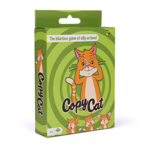 Point Games Copy Cat Card Game - Face and Body Expression and Recognition Games - Fun Educational STEM / STEAM Activity Travel Cards - Act Out Cat Picture