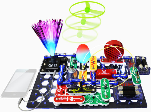 Snap Circuits LIGHT Electronics Exploration Kit   Over 175 Exciting STEM Projects   Full Color Project Manual   55+ Snap Circuits Parts   STEM Educational Toys for Kids 8+,Multi