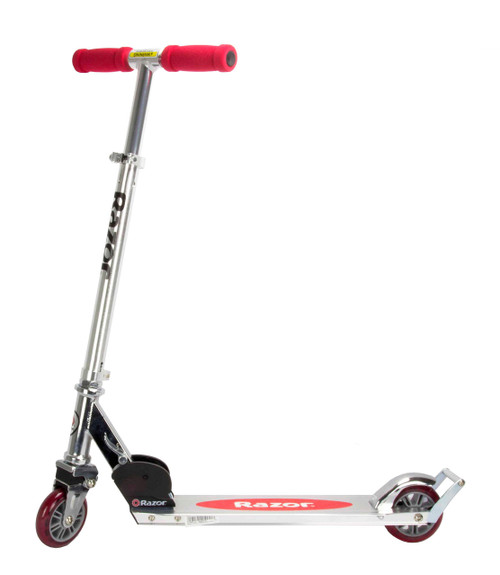 Razor A2 Kick Scooter for Kids - Wheelie Bar, Front Suspension, Lightweight, Foldable, Aluminum Frame, and Adjustable Handlebars
