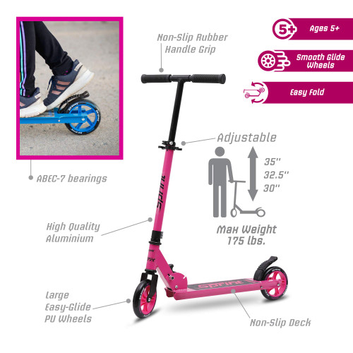 New Bounce Scooter for Kids - Kick Scooter for Ages 5-8 with Adjustable Handlebar - The GoScoot Sprint is Perfect for Children 5+, Girls and Boys