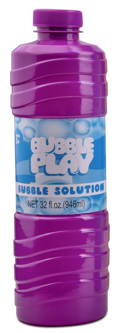 Bubble Play Refill Bottles - Large, Easy-Grip Bottles for Bubble Guns, Wands, Bubble Machines 32 OZ. Refill Bottles (1 Pack)
