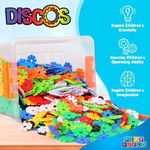Play Build Discos, Interlocking Brain Flakes Connecting Kids Toys, Preschool Learning Montessori Toys, Play and Learning, Stem Learning Toys Ages 3+