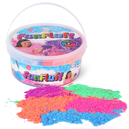 5 Colors Mess Free Creative Moving Sand Playset - Sensory Play Sand in Reusable Storage Container - Sensory Activity and Development Indoor and Outdoor - 5.5LB Bucket