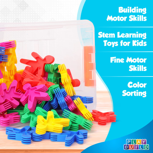Play Build Rainbow colored, Attractive, STEM Toys Building Toy, High quality, Educational, Integrating Minifigures Toy for girls boys toddlers and kids