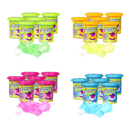Playkidz CRA-Z-Slimy Cloud Slime, Stress Relieving Butter Slime Putty, Silly Fun Slime Time, Fun for Boys and Girls, Party Pack of 24, Includes 4 Fun Colors, Ages 6+
