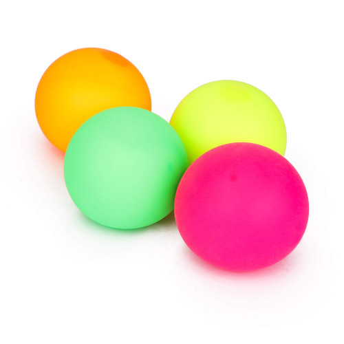Stress Relief Balls 4 Pack, Smooth Squishy Balls, Stress Reliever Stretch Balls Fidget Toys - Focus Aid for Anxiety, ADHD, Autism Sensory Stimulation Calming Colors, Kids and Adults (Squishy Balls)