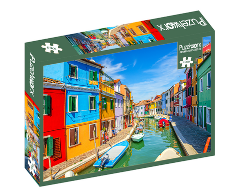 Puzelworx 1000-Piece Entertaining Puzzle, Enhances Organization, Separating and Sorting Skills, Narrow Street In Venice Puzzle, Frame Them For Later Decorative Use and Enjoy Them Forever, Great For Gifts