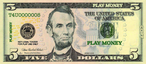 """Realistic Looking - Play Mon - ey Fun for All Ages - Learn Math and Budgeting with Pretend Play - Small Size 5"""""""