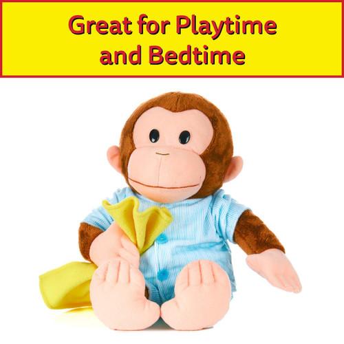 "KIDS PREFERRED Curious George Monkey Plush - George in Pajamas 12"" Stuffed Animal"