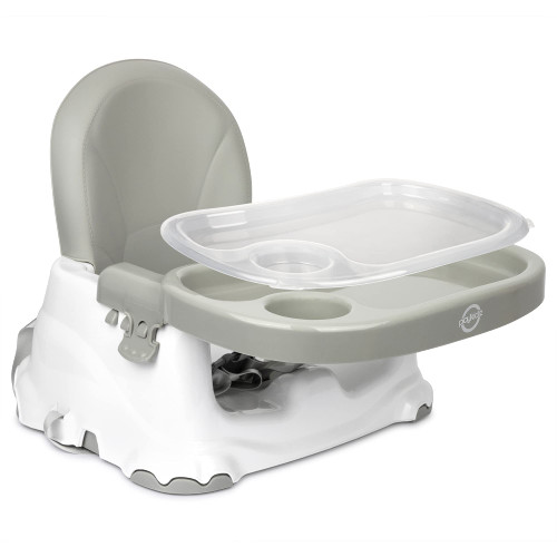 Booster Seat for Dining Table, Portable Highchair Easy Fold and Go. Smart Clean Snap-On Tray, Grows from Baby to Toddler Seat.