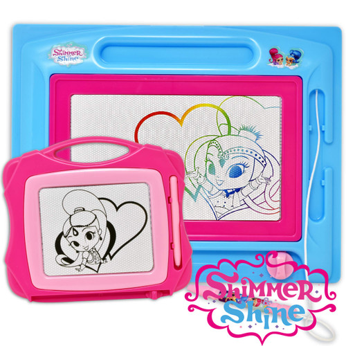 Shimmer & Shine Magnetic Doodle Board - Etch a Sketch Classic, Magnetic Drawing Board for Kids, Bonus Travel Size Sketcher Included, Great Toy for Toddlers Learning, Boys and Girls Ages 3+