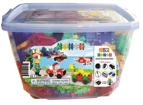 Clics 650 Pieces Interlocking Building Clic Toys in Bucket