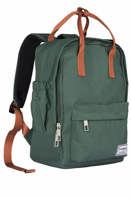 Euro Gear Lightweight Unisex Pre-School Backpack for boys and girls up to 3-6 years (Green/Orange)