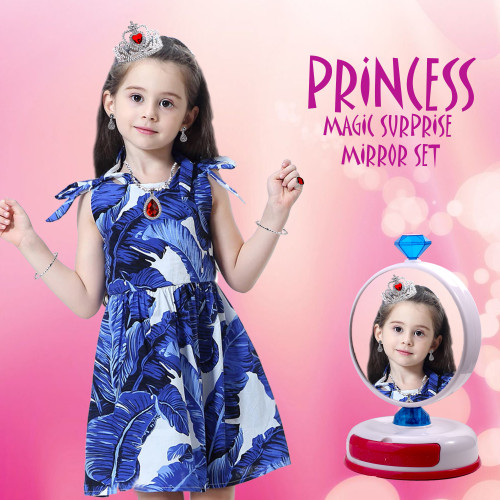 Playkidz Princess Magic Surprise Jewelry and Mirror set! Kids Pretend Play Magical Mirror, Jewelry and Vanity Chest Great for Your Little Girl & Toddlers.