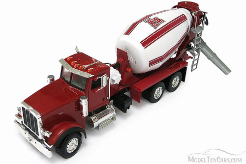 Peterbilt Model 367 Cement Mixer Tractor, Red - Tomy 46210A - 1/16 Scale Diecast Model Toy Car