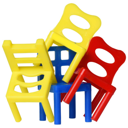 Point Games Stacking Tower Balancing Game, Party Favor Stacking Toys - Pile-Up Suspend Family Games for Kids. (18 Chairs toys Set)