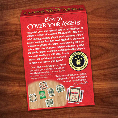 Grandpa Beck's Cover Your Assets Card Game   Fun Family-Friendly Set-Collecting Game   Enjoyed by Kids, Teens, and Adults   From the Creators of Skull King   Ideal for 2-8 Players Ages 7+