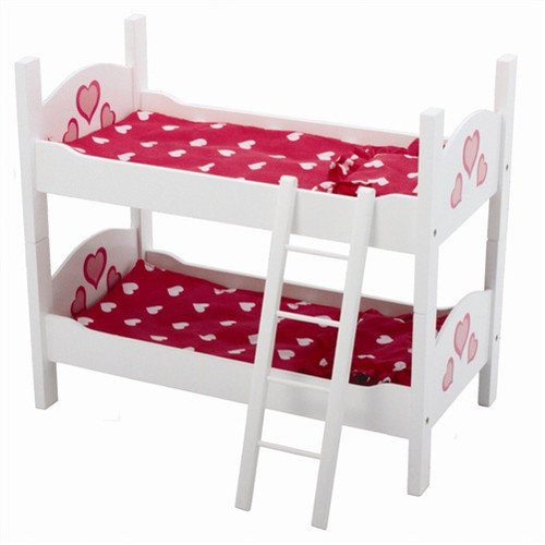 The New York Doll Collection Wooden Doll Bunk Bed