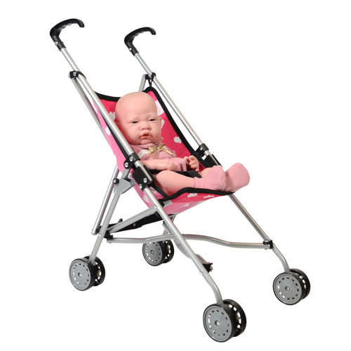 My First Doll Stroller for Kids - Super Cute Doll Stroller for Girls - Doll Stroller Folds for Storage - Great Gift for Toddlers, Colors May vary
