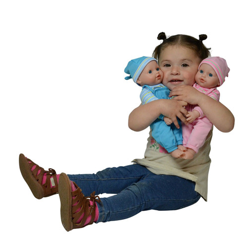 "The New York Doll Collection 12"" Twins Baby Doll - Soft Body Twin Baby Dolls (12"" Caucasian)"