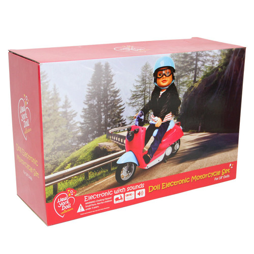 Doll Motorcycle - Electronic Motorcycle Set for 18 inch Dolls