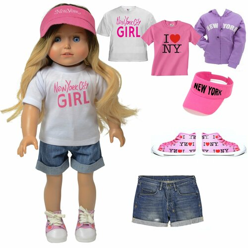 Kay - 18 Inch Doll Tourist Doll Clothing Accessory Set - Summer Clothing