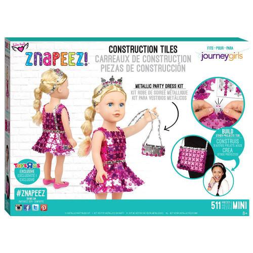 Fashion Angels Znapeez! Metallic Party Dress Kit and Bonus Squinkies Ornament