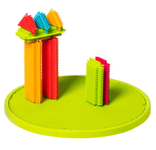 Playbuild: Bristle Interlocking Building Set Educational Construction Stacking Builder for Toddlers 150-Pieces Bucket