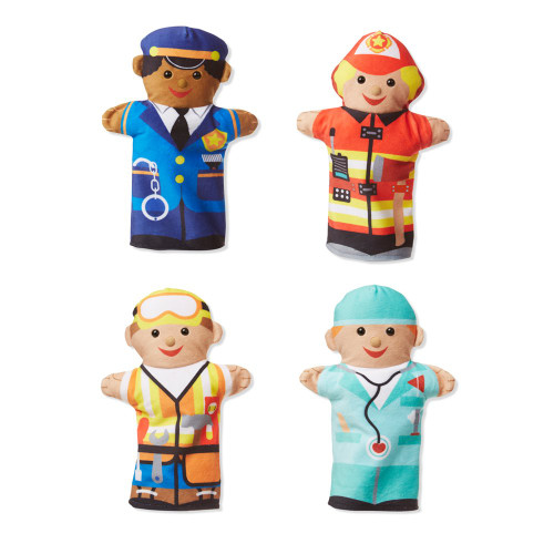 Melissa & Doug 96037 Jolly Helpers Hand Puppet, Multicolor