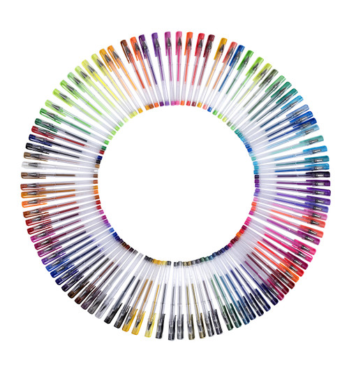 Moore: Premium Art Color Gel Pens Set of 100 pcs for Adults Coloring Books Drawing Painting Writing (No Duplicates)