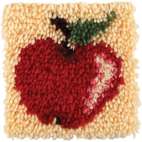 Spinrite Wonderart Latch Hook Kit, 8 by 8-Inch, Apple